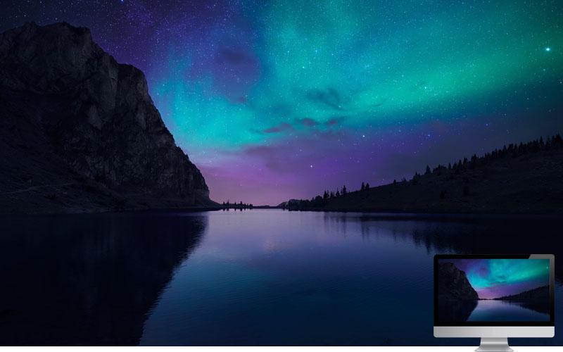 1. Aurora in Lake