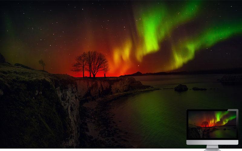 18. Sunset with Aurora