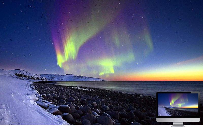 4. Aurora in Winter