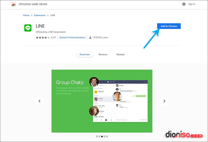 Download Ekstensi LINE Chrome