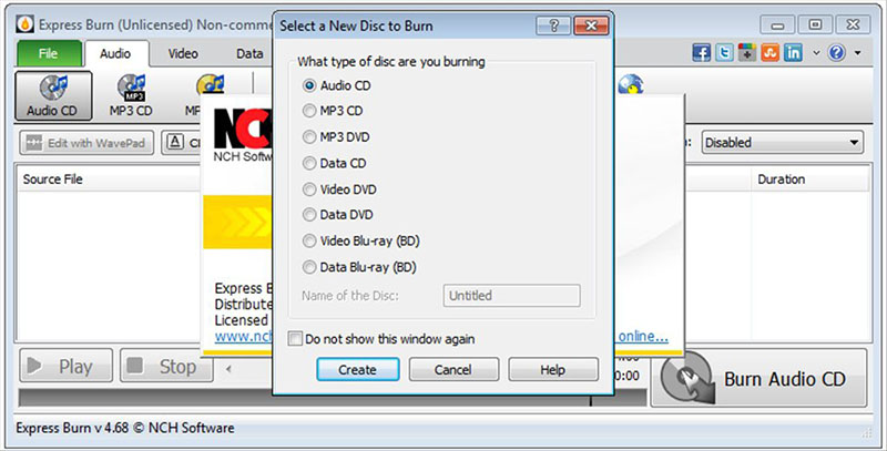 Express Burn Free CD and DVD Burner