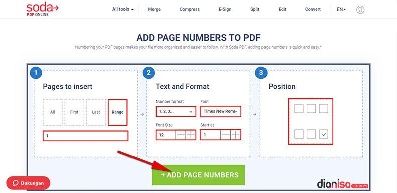 Page Number - SodaPDF