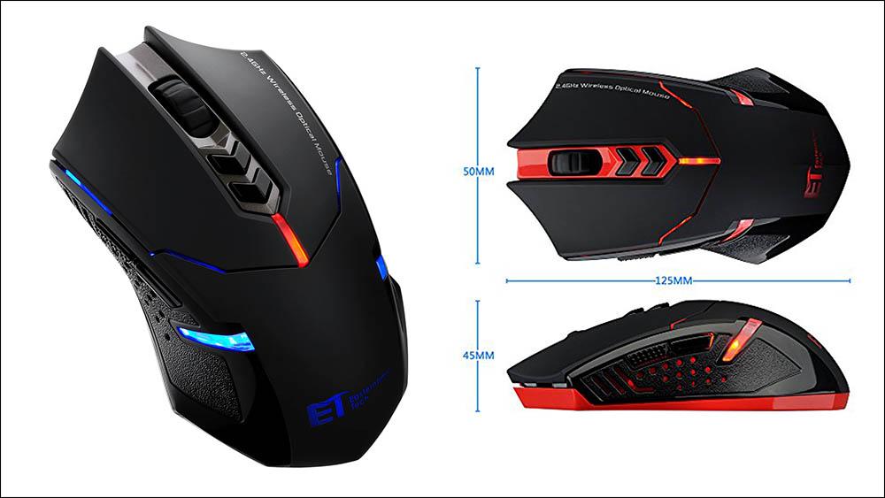 Pictek 2400DPI Adjustable Gaming Mouse