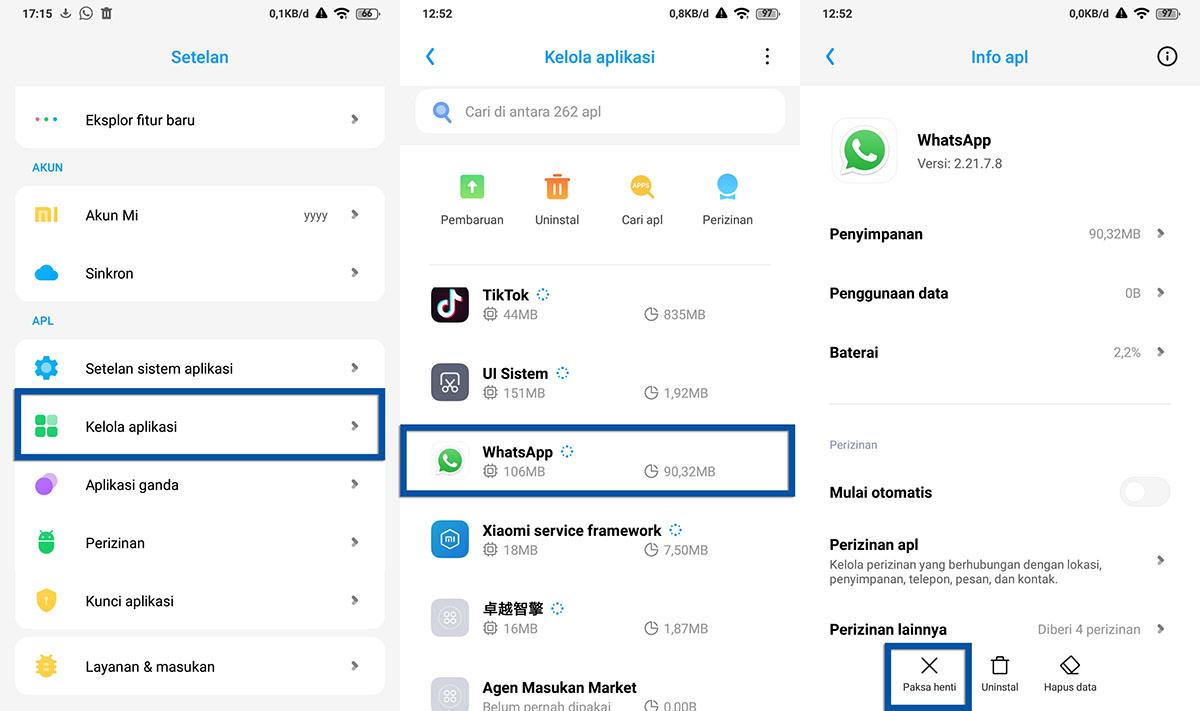 Tutup Paksa Aplikasi Android