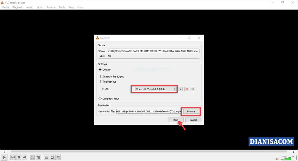 Cara Convert Video AVI ke MP4