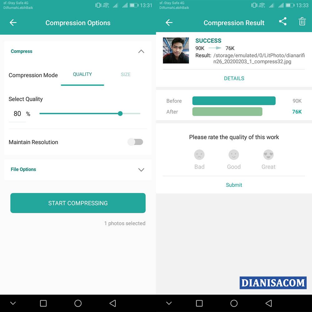 2 Mengecilkan Ukuran Foto Android