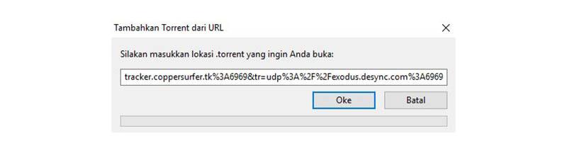 8 Tambahkan Torrent Dari URL