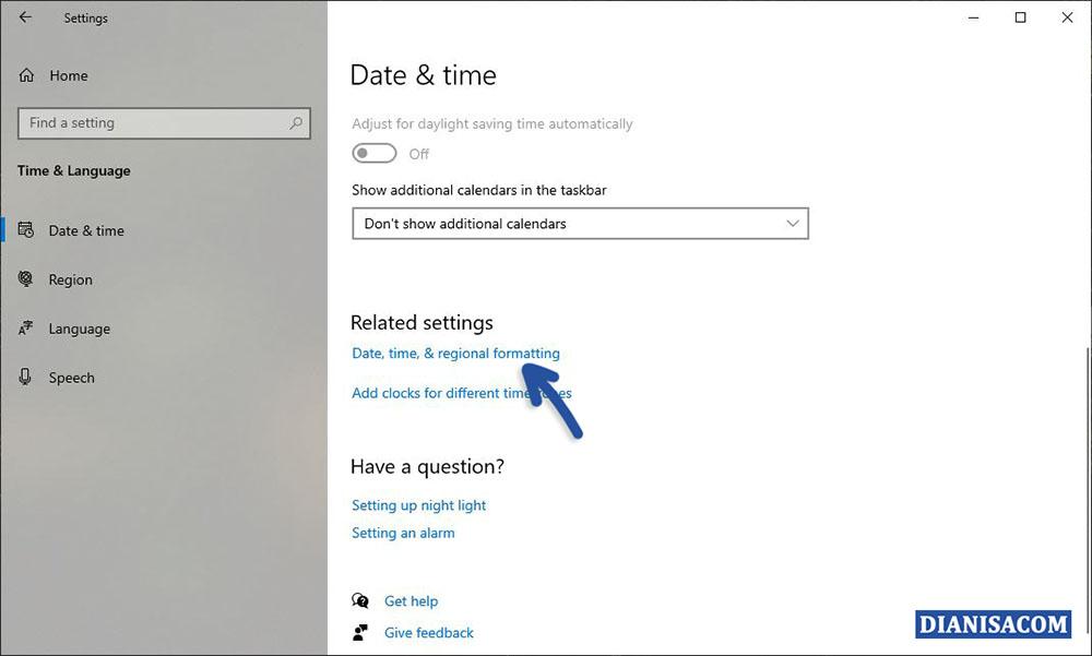 1 Mengubah Format Tanggal dan Waktu Windows 10