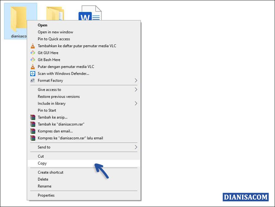 1 Menyalin File di File Explorer Windows