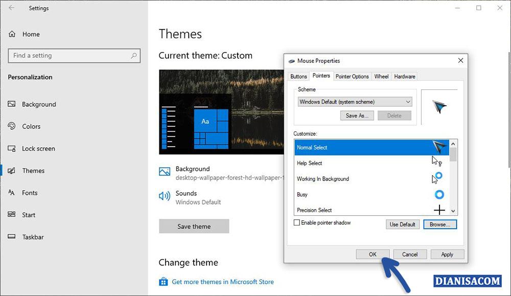 2 Menambahkan Kursor ke Windows 10