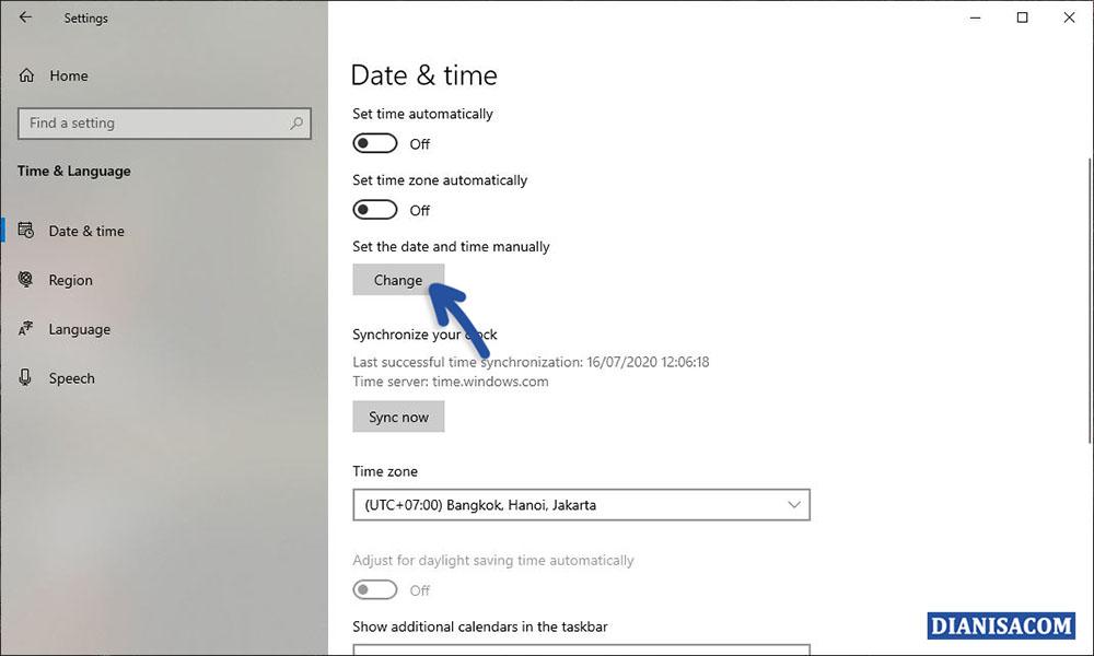3 Mengubah Tanggal dan Jam Windows 10