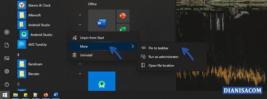 3 Pin to taskbar Windows