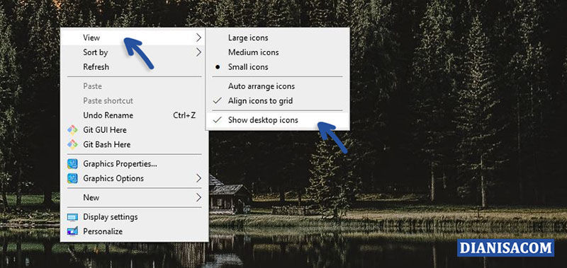 3 Show desktop icons Windows
