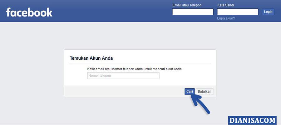 1 Temukan Akun Facebook Hilang