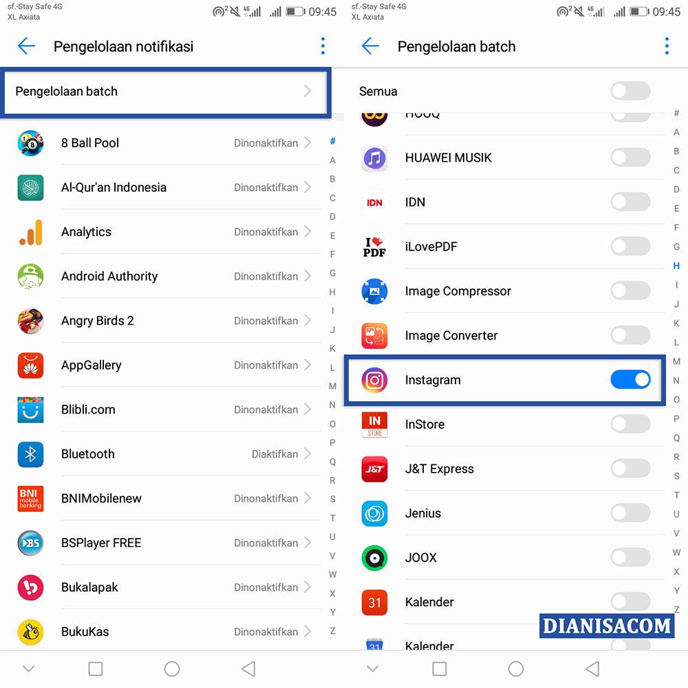 2 Matikan Notifikasi Aplikasi Android