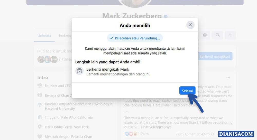 3 Tindakan Lain dalam Report Facebook