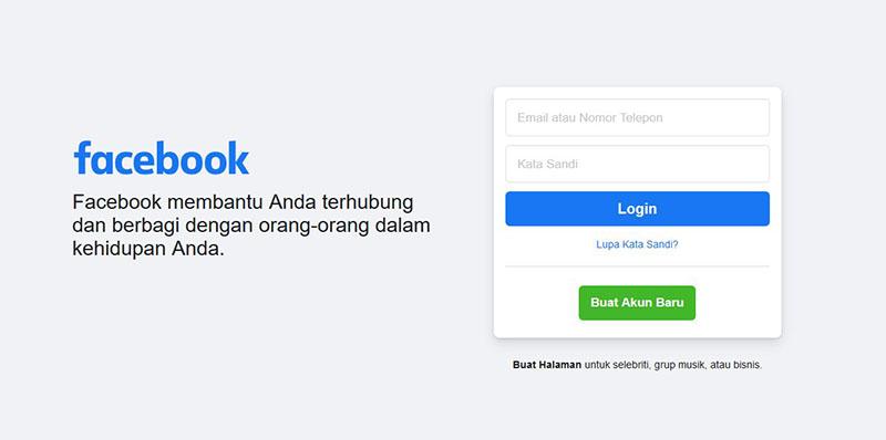 Tampilan Facebook Terbaru Saat ini