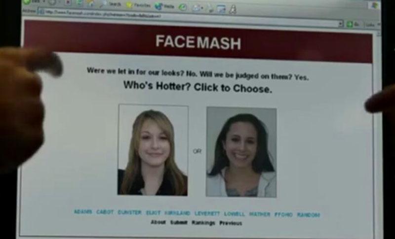 Tampilan Facemash