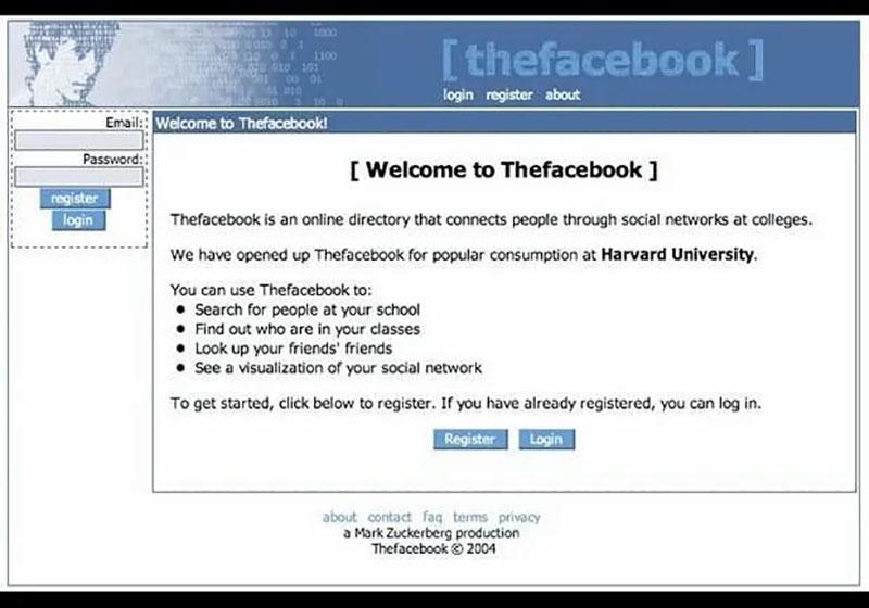 Tampilan TheFacebook