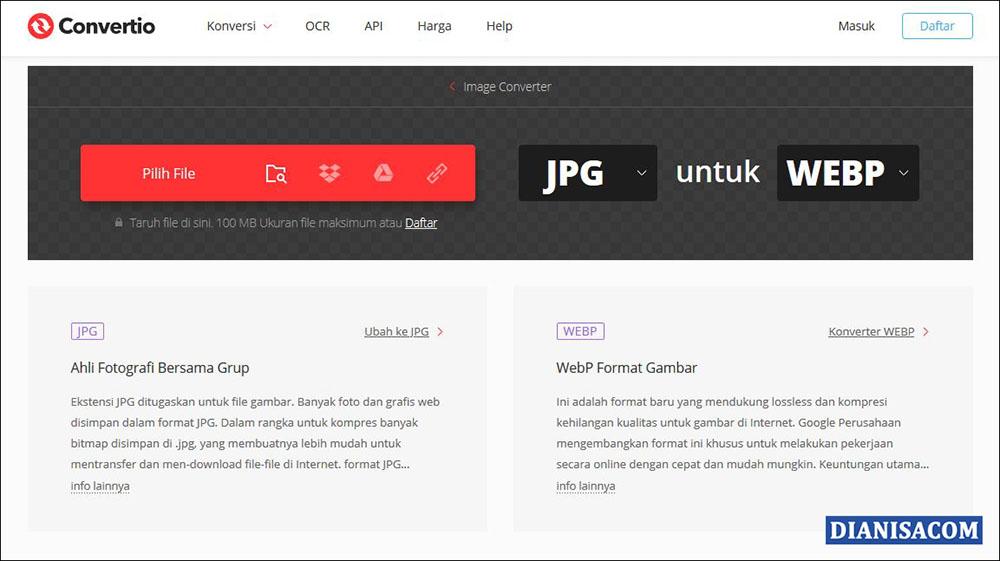 1 Ubah JPG ke WEBP Online