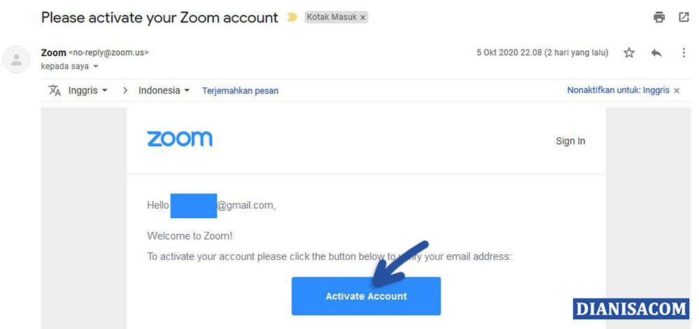 3 Verifikasi Email Zoom