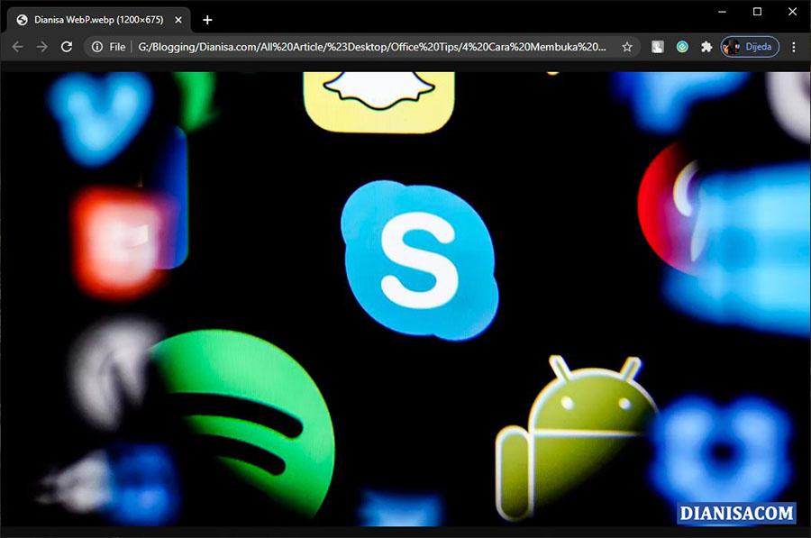 Membuka Gambar WebP Windows