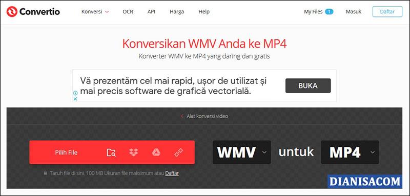 Ubah WMV Convertio