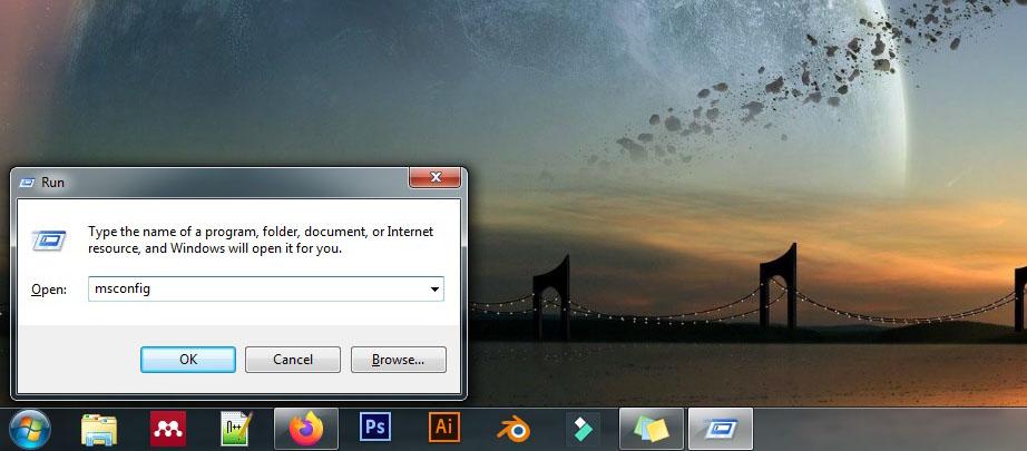 1 Buka msconfig Windows 7