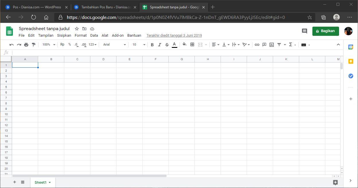 Apa itu Google Spreadsheet