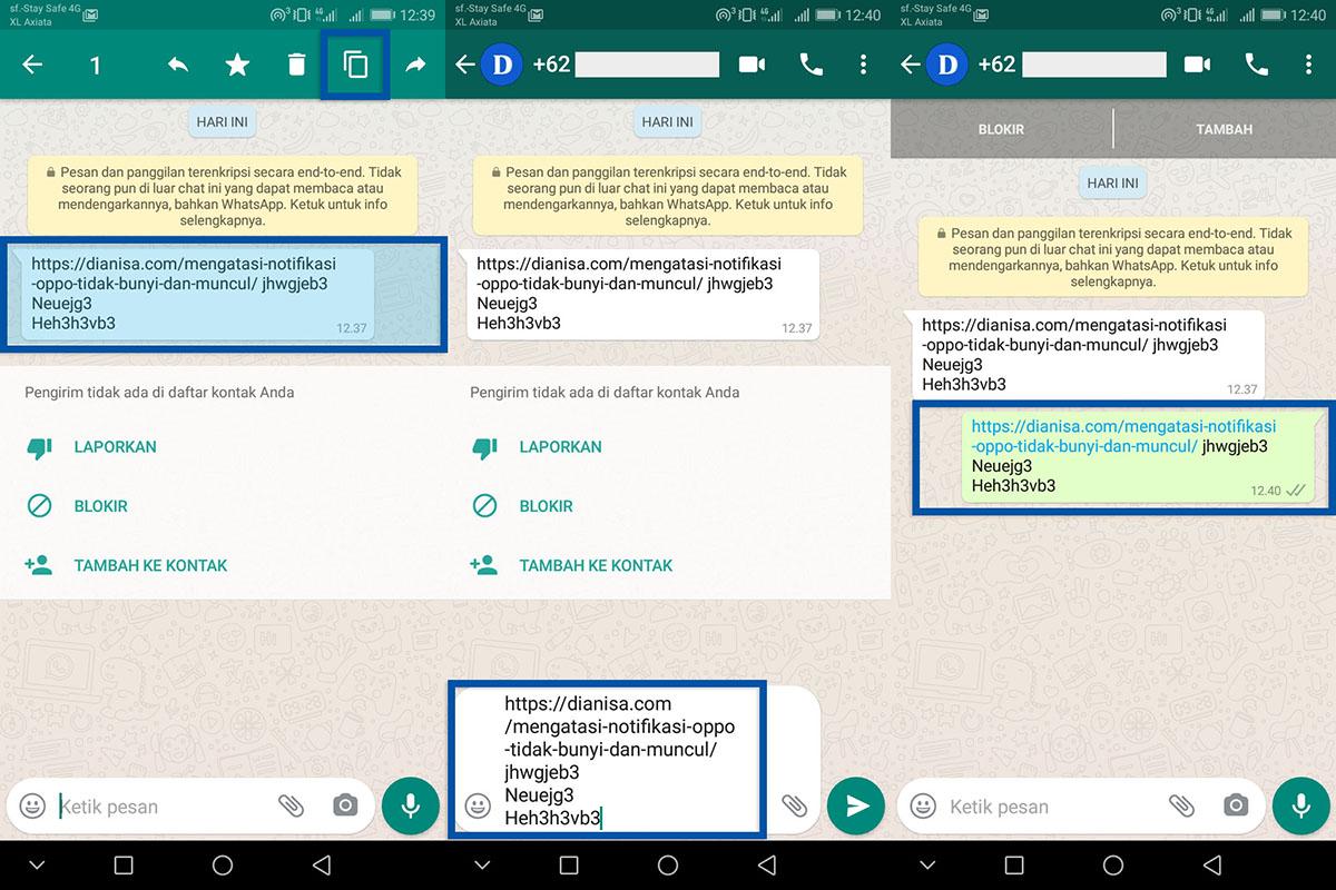 Salin Pesan Link WhatsApp