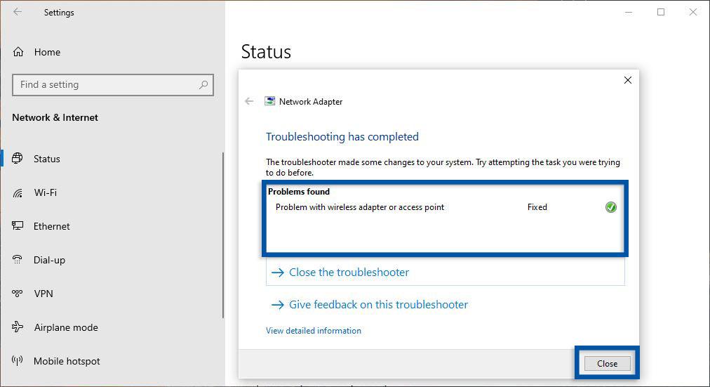 Proses Perbaikan Network Windows