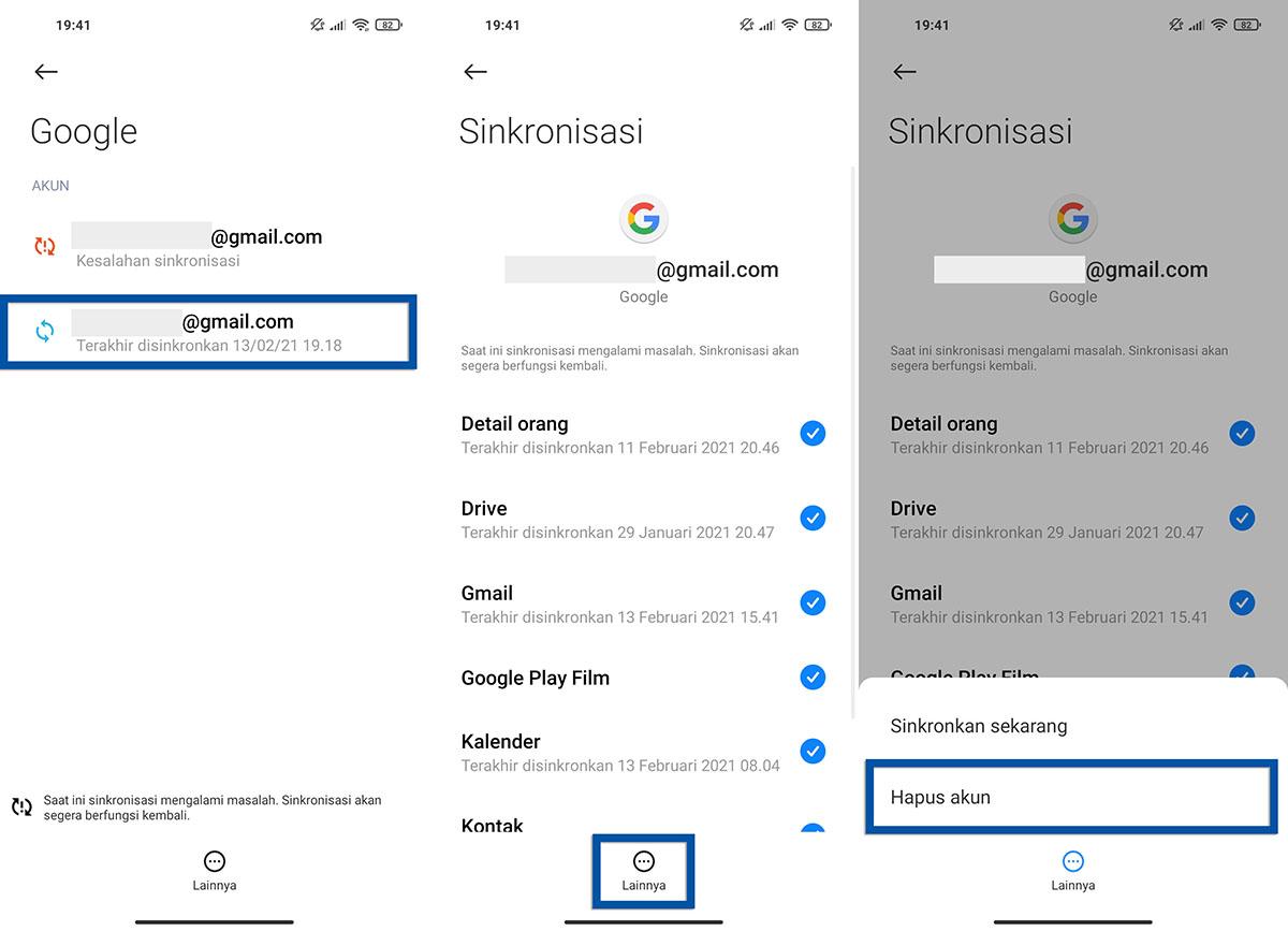 Keluar Akun Google Xiaomi