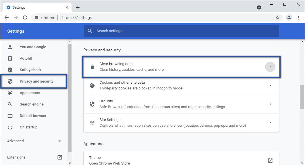 Menghapus Cache Google Chrome