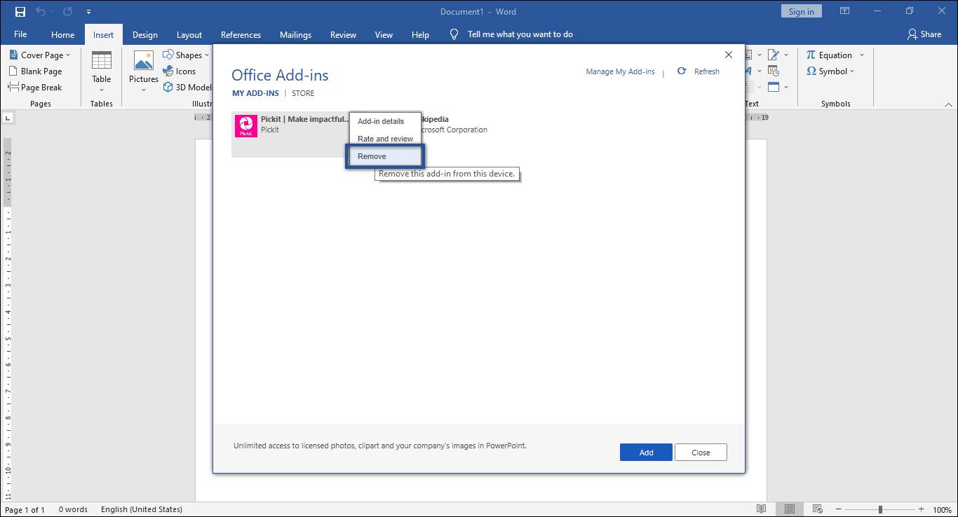 Microsoft Word Not Responding