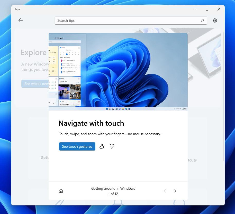 Aplikasi Tips Windows 11