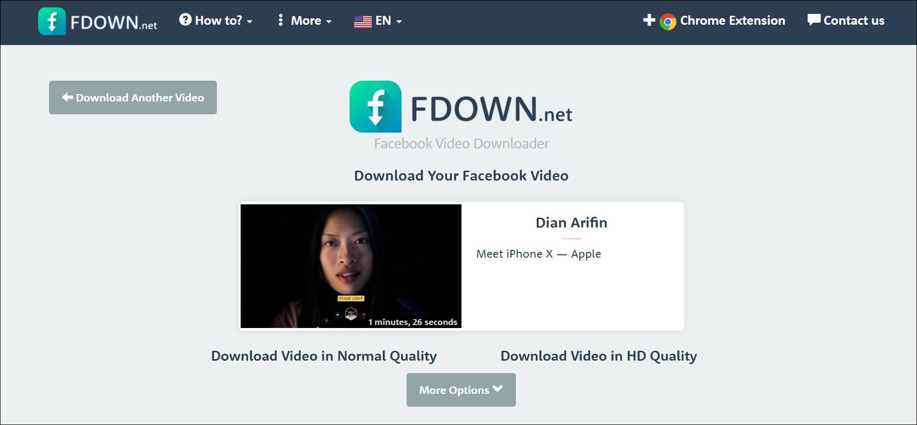 2 Unduh video dari FBDown