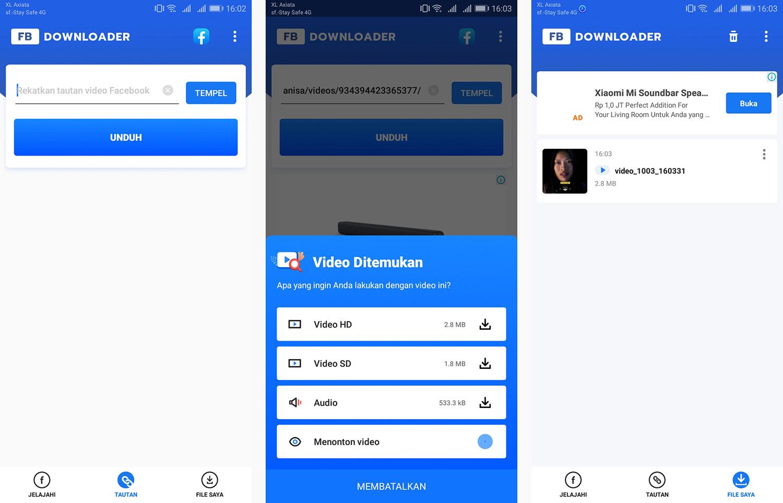 3 Downloader video for Facebook