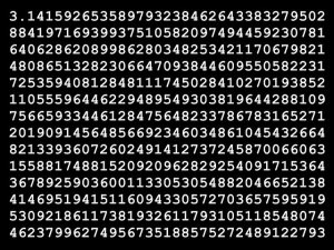 Many, many digits of pi. Image by Andrew Martin from Pixabay