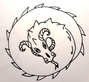 A spiral dragon drawn by Sagara