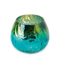 Peacock Glass Tealight Candle Holder - UPC 849179016685