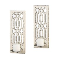 Deco Mirror Wall Sconce Set - UPC 849179025519