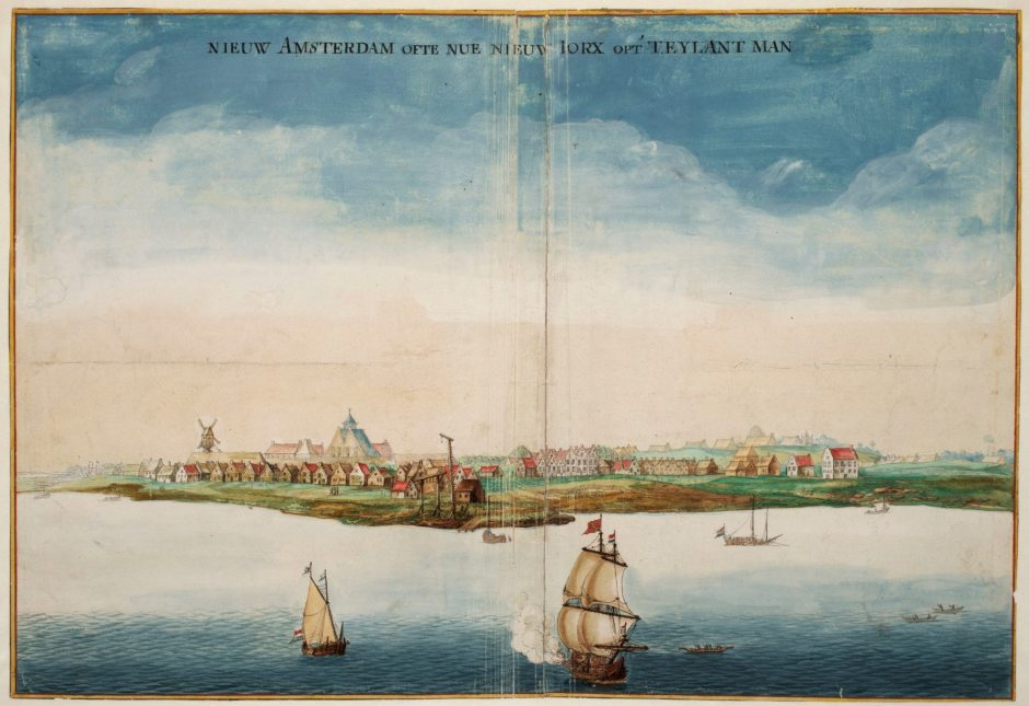 View of New Amsterdam, 1664.