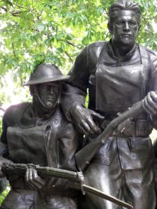 Detail of Karl Illava, 107th Infantry Monument, 1926-27. Photo copyright (c) 2016 Dianne L. Durante