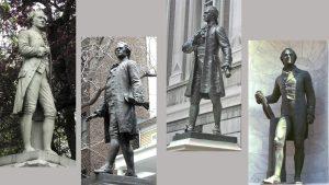 Sculptures of Alexander Hamilton in Manhattan. 1)