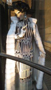 Balmain evening gown at Bergdorf's.
