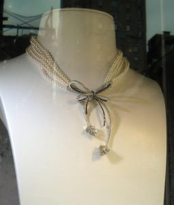 Pearls and diamonds. (Chanel, maybe?)