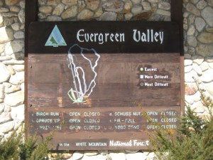 The trail map at Evergreen Valley.