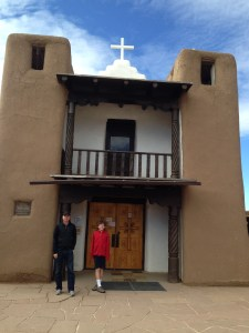 The church in the Pueblo was built in xxx, after the Spanish-built church was destroyed in XX.
