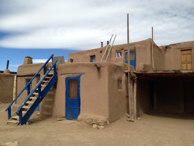 Although residents no longer enter and exit their homes through holes in the roofs (doors have been added), the Pueblo has neither electricity or running water.  Water is hauled from the stream that runs through the Pueblo.