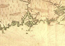 Samuel de Champlain made this map of the northeastern coast of American on his 1604 voyage.